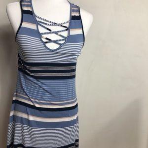 Super comfy striped mini dress
